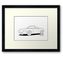 Mazda MX-5 MK1 Line Illustration Framed Print