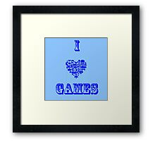 I Love Games Framed Print