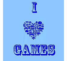 I Love Games Photographic Print