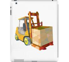 Forklift Truck Materials Handling Box Low Polygon iPad Case/Skin