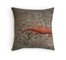 Eastern Red Spotted Newt Throw Pillow