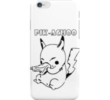PIK-ACHOO PIKACHU POKEMON iPhone Case/Skin