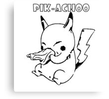 PIK-ACHOO PIKACHU POKEMON Canvas Print