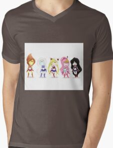 Adventure Time Sailor Scouts Fan Art Mens V-Neck T-Shirt