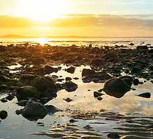 calm at rocky beal beach by morrbyte