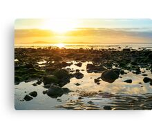calm at rocky beal beach Canvas Print