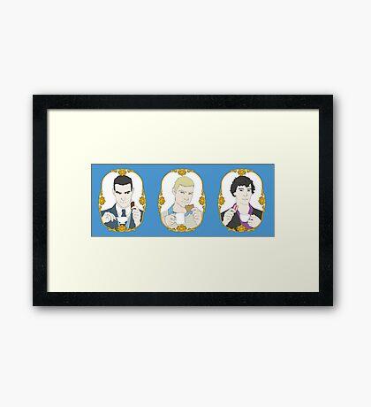 SHERLOCK - Tea Time for Sherlock - Trio Framed Print
