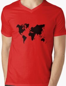 world Mens V-Neck T-Shirt