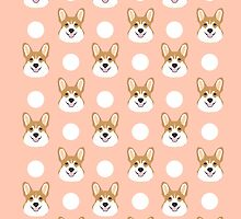 Corgi polka dots peach blush pastel pink coral welsh corgi iphone case for dog lover gifts for dogs by PetFriendly