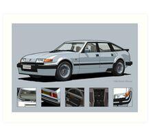 Rover Vitesse 1986 Silver Leaf Art Print