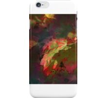 Red Maple Abstract iPhone Case/Skin