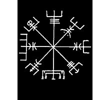 Vegvisir (white) Photographic Print