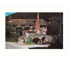 A village in Somerset Art Print