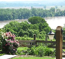 Missouri River View from Oak Glenn Vineyards by Sherry Hunt