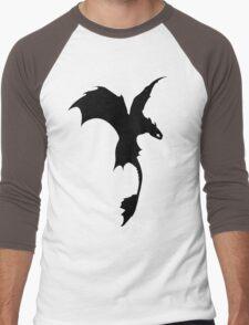 Toothless Silhouette - Plain Men's Baseball ¾ T-Shirt