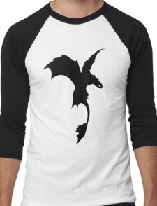 Toothless Silhouette - Plain Men's Baseball ¾ T-Shirt
