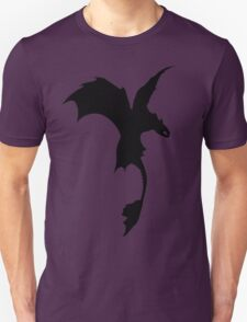 Toothless Silhouette - Plain T-Shirt