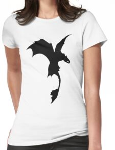 Toothless Silhouette - Plain Womens Fitted T-Shirt