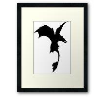 Toothless Silhouette - Plain Framed Print