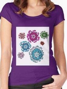 a floral earth Women's Fitted Scoop T-Shirt
