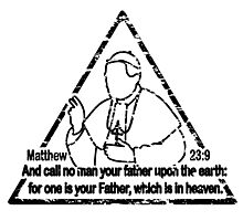 MATTHEW 23:9  CALL NO MAN YOUR FATHER Photographic Print