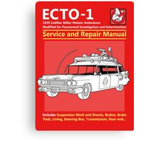 ECTO-1 Service and Repair Manual Canvas Print
