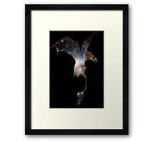Toothless Silhouette - Galaxy Print Framed Print