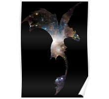 Toothless Silhouette - Galaxy Print Poster
