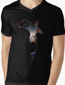 Toothless Silhouette - Galaxy Print Mens V-Neck T-Shirt