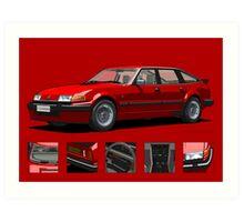 Rover Vitesse 1986 Targa Red Art Print