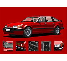 Rover Vitesse 1986 Targa Red Photographic Print