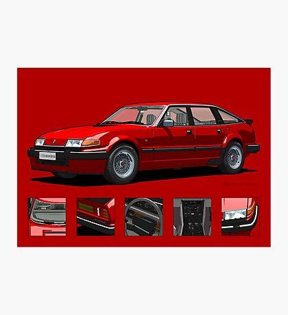 Rover Vitesse 1986 Targa Red Photographic Print