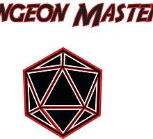 Dungeons Master Red and Black D20 by thek8t