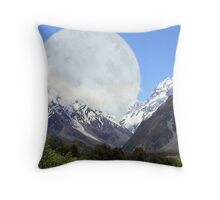 Bad Moon Rises on Mount Cook Throw Pillow