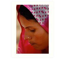 The Sari  Part 2 Art Print