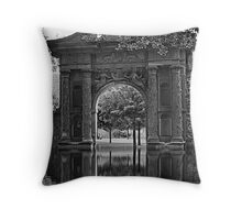 Arch on the grounds of Heidleburg Castle Throw Pillow