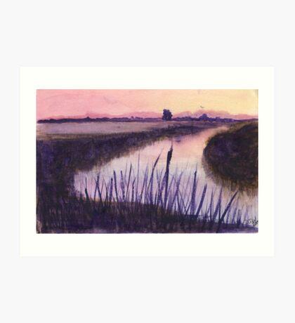 Loxahatchee Nature Preserve at Sunset Art Print