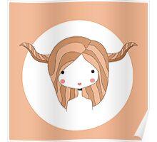 Horoscope Taurus sign, girl Poster