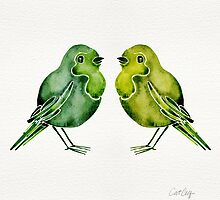 Parakeets by Cat Coquillette