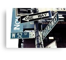 Broadway NYC Canvas Print