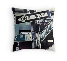 Broadway NYC Throw Pillow