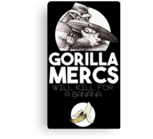 Gorilla Mercs Canvas Print