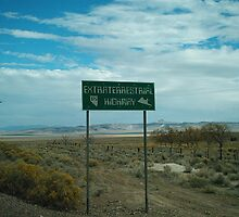 ExtraTerrestial Highway Sign by Trey Morgan