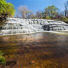 Cascading Thistlethwaite Falls - Indiana by Kenneth Keifer
