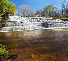 Cascading Thistlethwaite Falls - Indiana by Kenneth Keifer