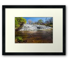 Cascading Thistlethwaite Falls - Indiana Framed Print