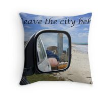 Leave the city behind Throw Pillow