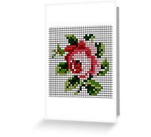 Shabby Chic Rose Greeting Card