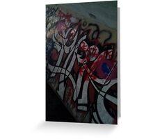 World famous Graffiti tunnel Greeting Card