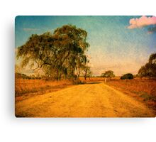 The Bend in the Road by the Willow Tree Canvas Print